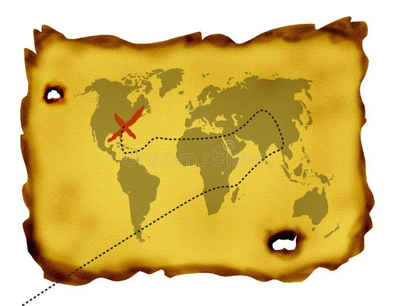 mapa skarbu. fotografia stock