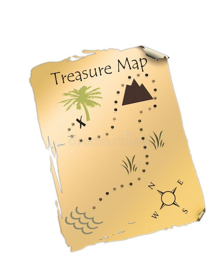 mapa skarbu. ilustracja wektor