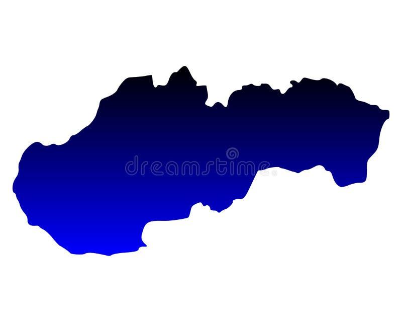 mapa Slovakia royalty ilustracja