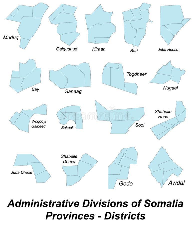 mapa, Somalia ilustracji