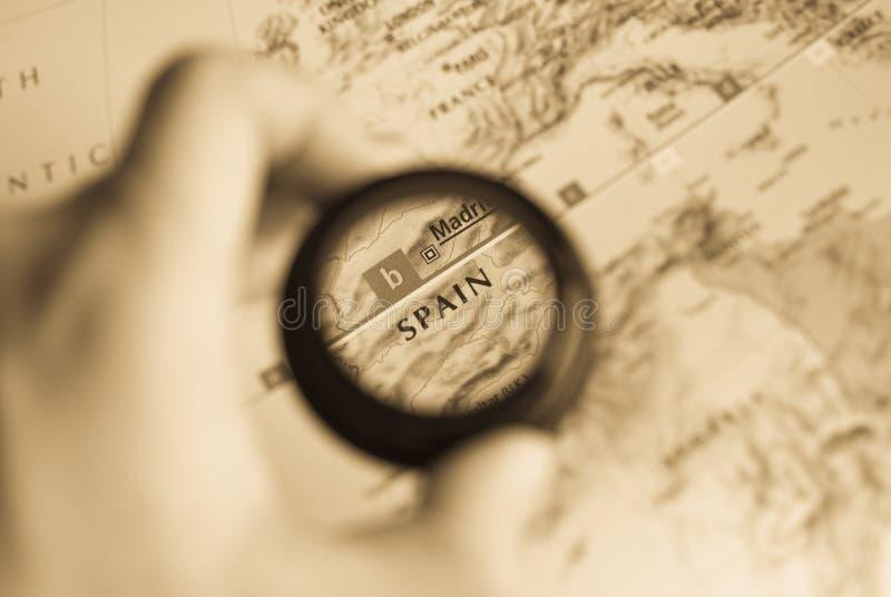mapa Spain obrazy stock