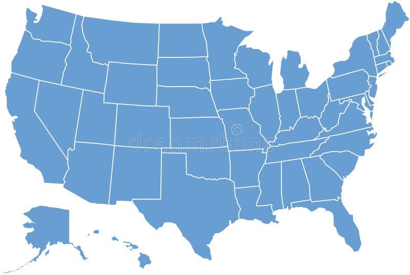 mapa stan jednoczyli royalty ilustracja