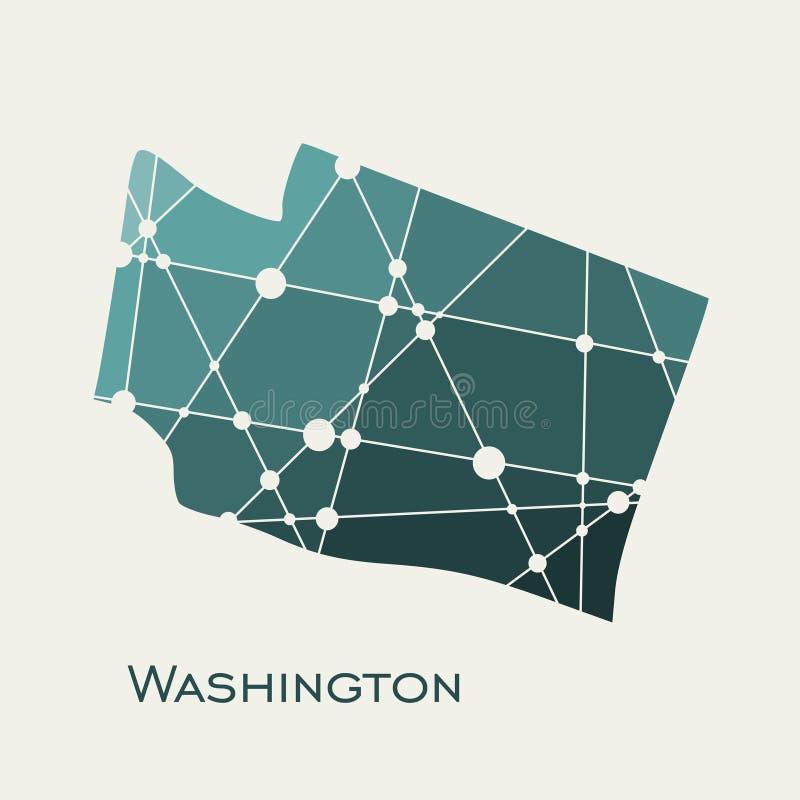 mapa stan Washington ilustracji