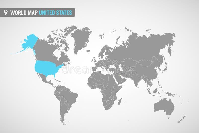 mapa stany zjednoczone   ilustracji
