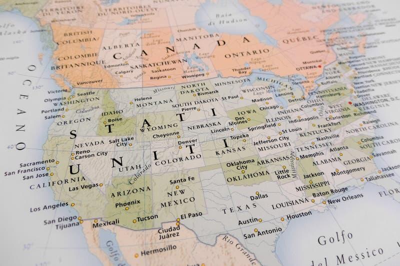 mapa stany zjednoczone obrazy stock