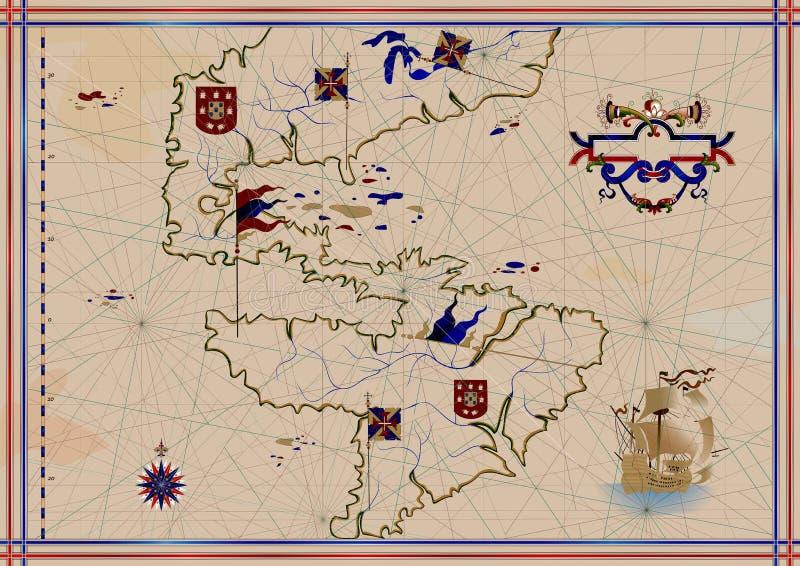 mapa stara royalty ilustracja