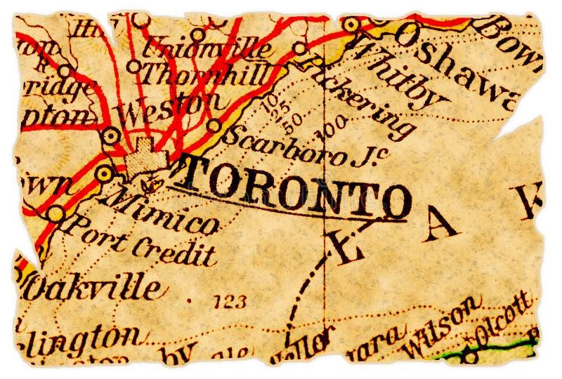 mapa stary Toronto fotografia stock