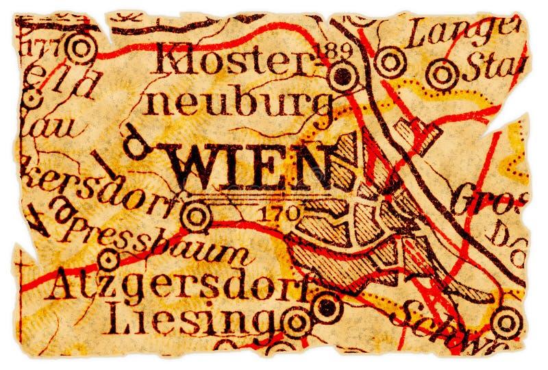 mapa stary Vienna fotografia stock