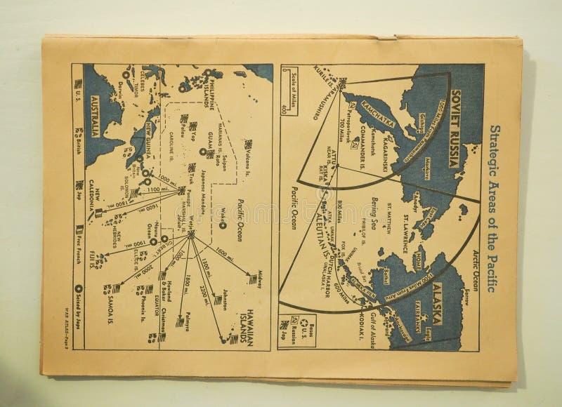 Mapa Strategiczni tereny Pacyfik Podczas drugiej wojny światowej zdjęcia royalty free