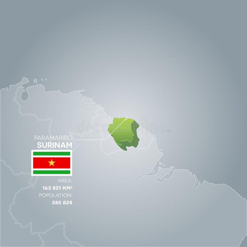 Mapa surinamês da informação ilustração royalty free