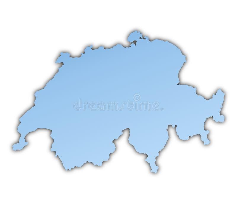 mapa Switzerland royalty ilustracja