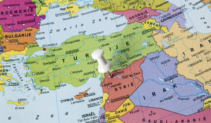 Mapa Syria w środkowym wschodzie zdjęcia stock