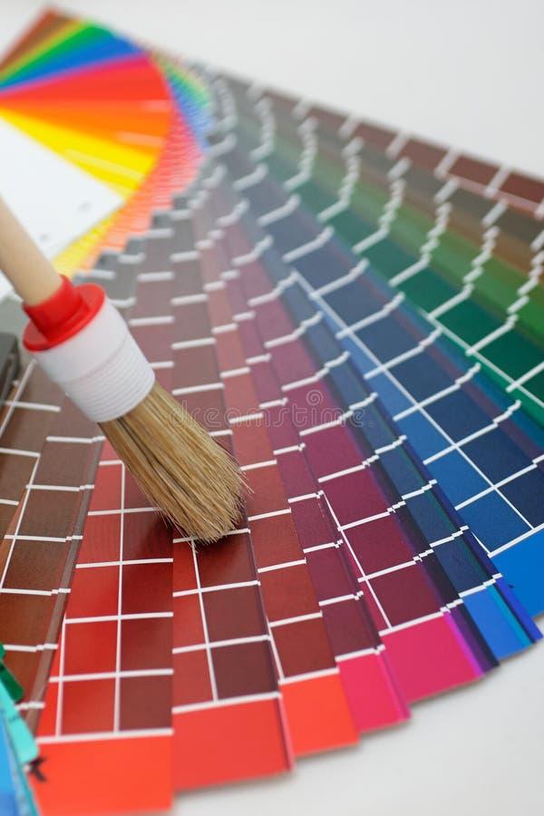 mapa szczotkarski kolor zdjęcia stock