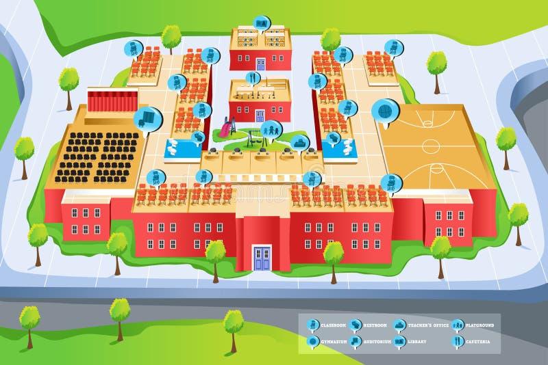 Mapa szkoła royalty ilustracja