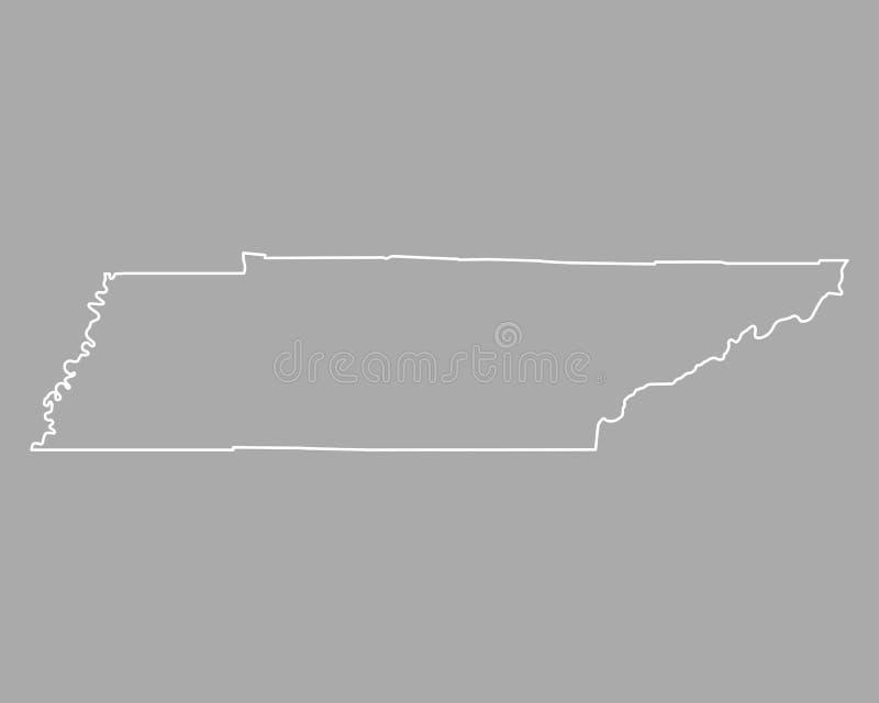 Mapa Tennessee ilustracja wektor