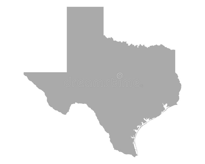 mapa, Texas ilustracja wektor