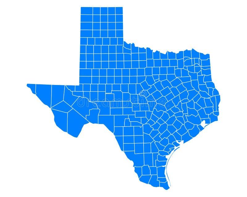 mapa, Texas royalty ilustracja