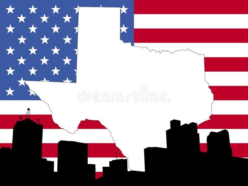 mapa Texasu tło royalty ilustracja