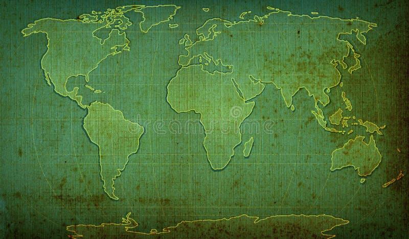 mapa textured słowo ilustracji