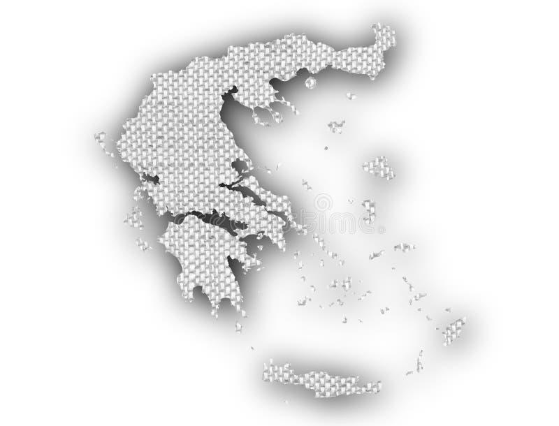 Mapa texturizado de Grecia en colores agradables stock de ilustración