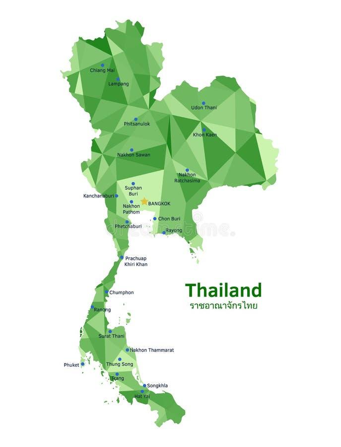 mapa Thailand ilustracji