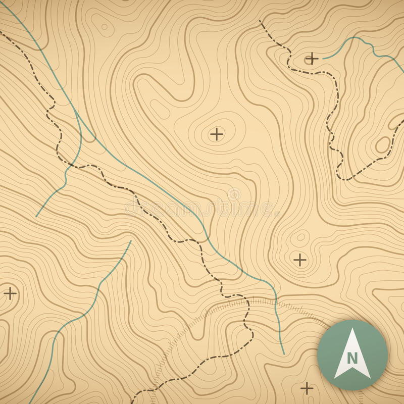 Mapa topográfico ilustração royalty free