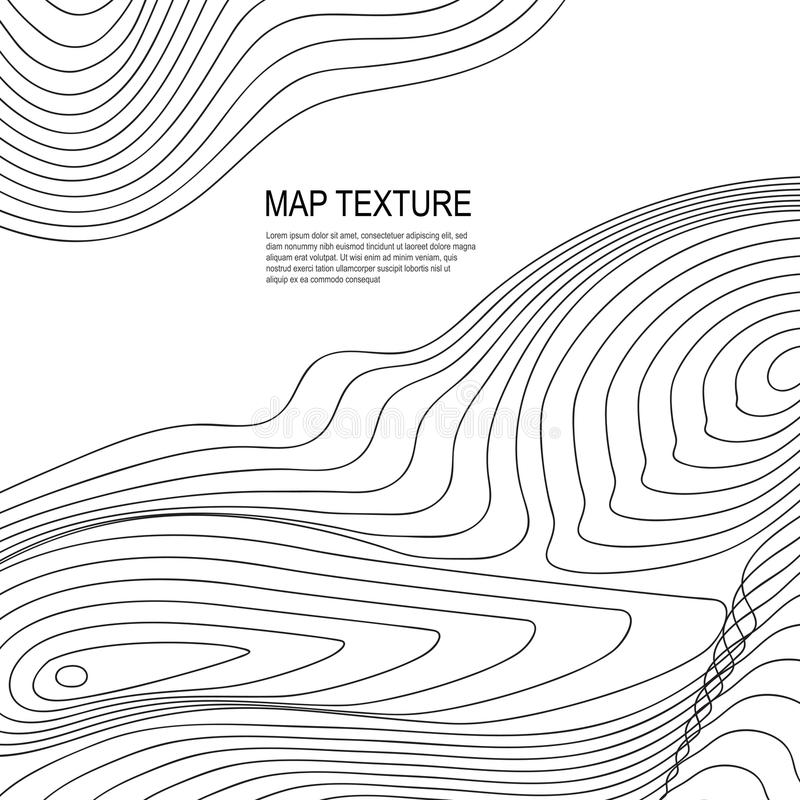 Mapa topográfico del terreno con la línea contornos libre illustration