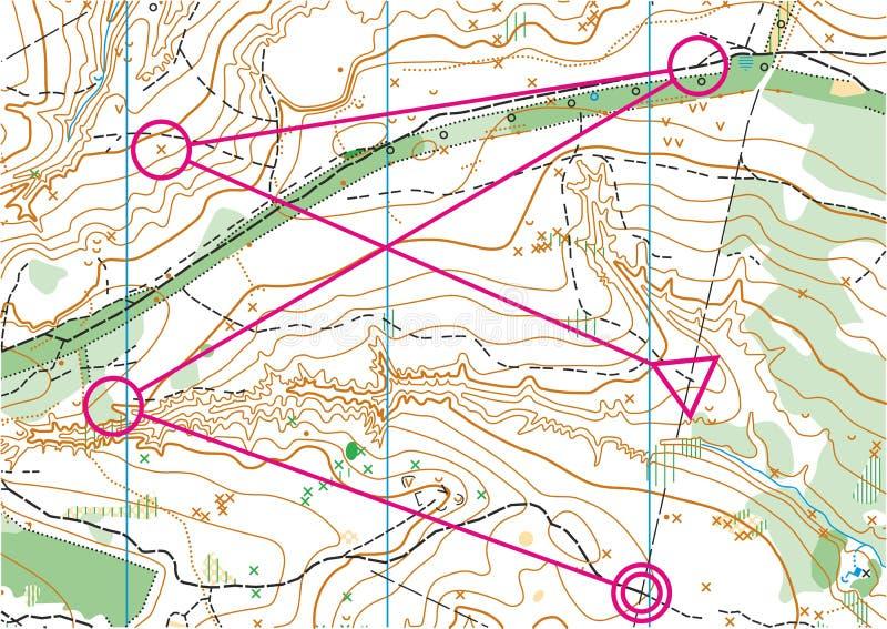 Mapa topográfico del vector ilustración del vector