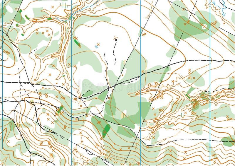 Mapa topográfico del vector stock de ilustración