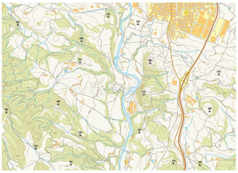 Mapa topográfico imaginario libre illustration