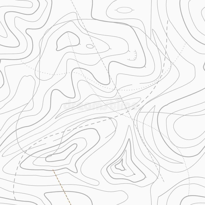 Mapa topográfico ligero inconsútil ilustración del vector