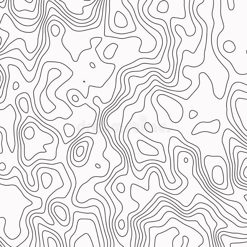 mapa topograficzna Konturowy abstrakcjonistyczny t?o r?wnie? zwr?ci? corel ilustracji wektora royalty ilustracja