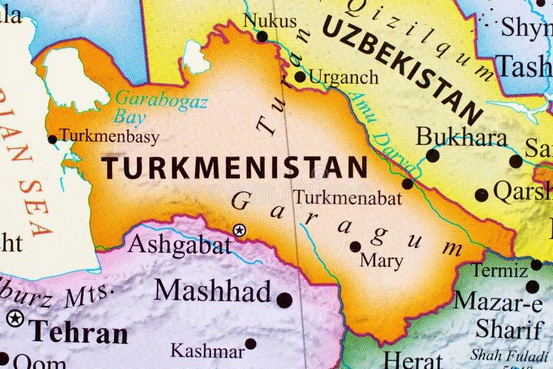 Mapa Turkmenistan ilustracji
