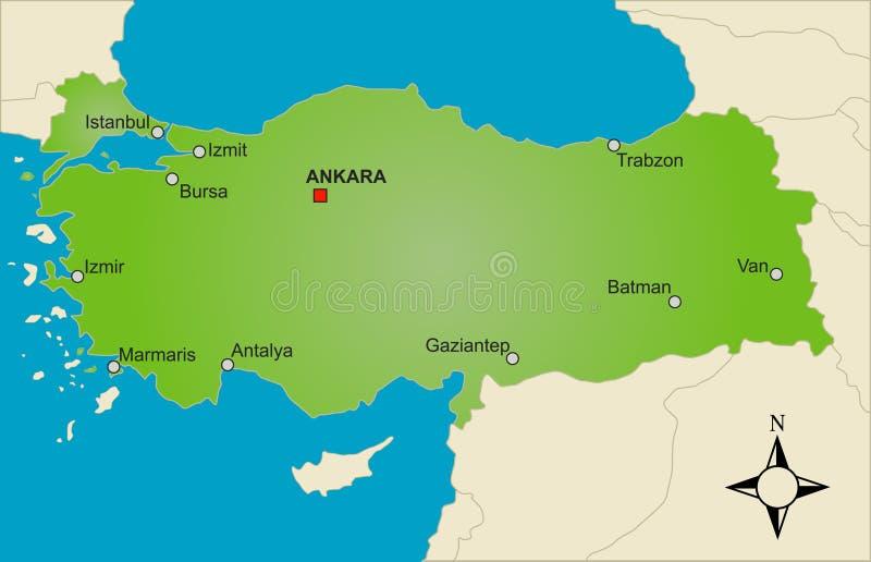 Mapa Turquia   ilustração do vetor