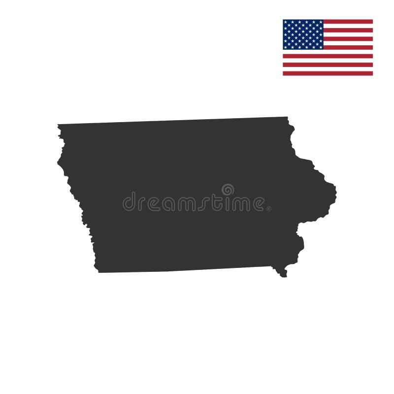 Mapa U S iowa state ilustracji
