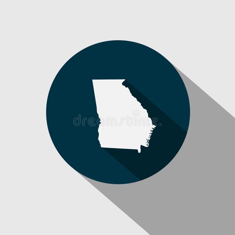 Mapa U S stan Gruzja ilustracji