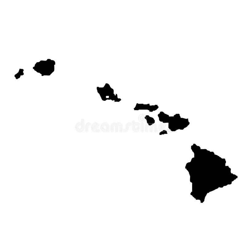 Mapa U S stan Hawaje royalty ilustracja