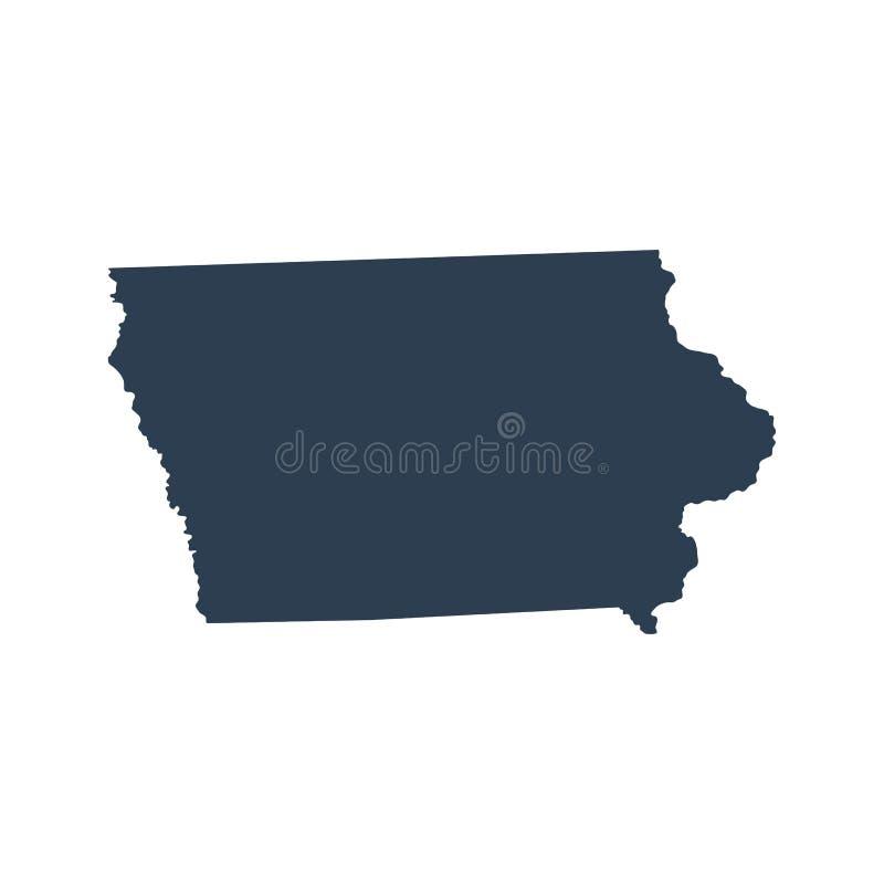 Mapa U S stan Iowa royalty ilustracja