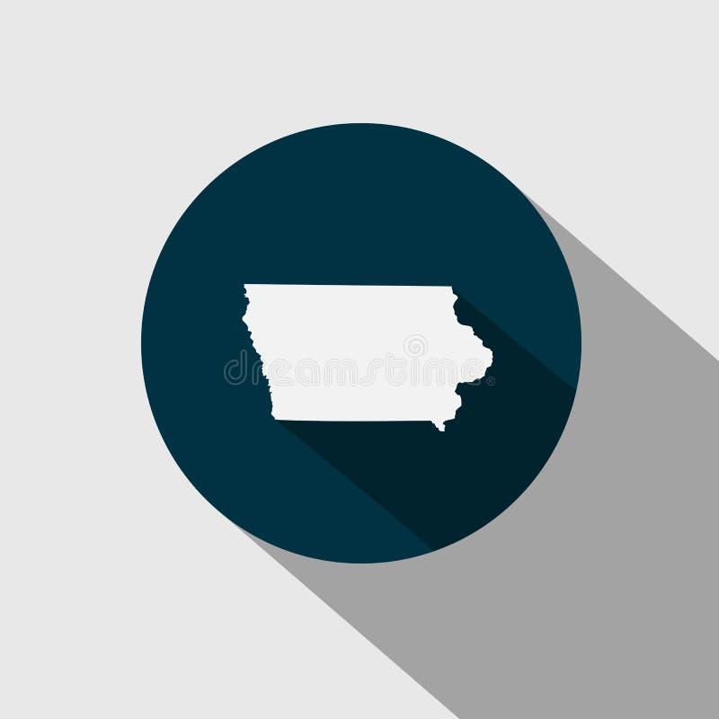 Mapa U S stan Iowa ilustracja wektor