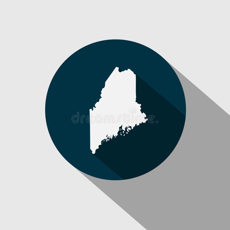 Mapa U S Stan Maine ilustracji