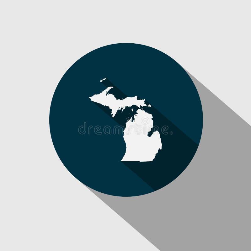 Mapa U S stan Michigan royalty ilustracja