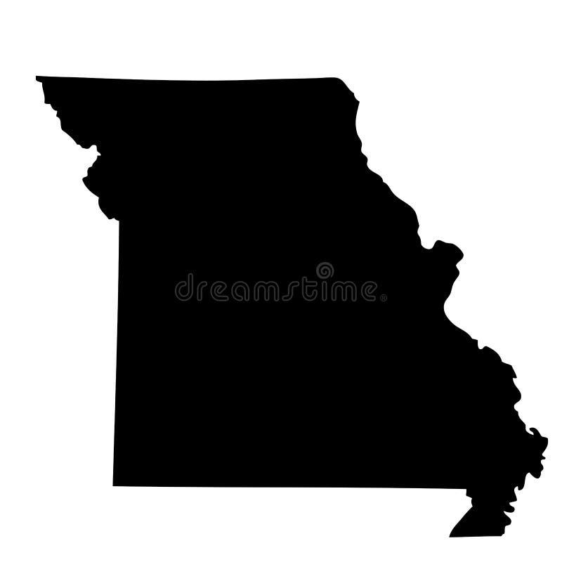 Mapa U S stan Missouri ilustracji