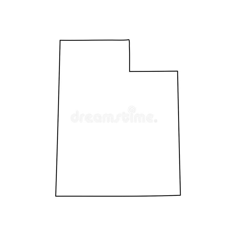 Mapa U S stan Utah ilustracji