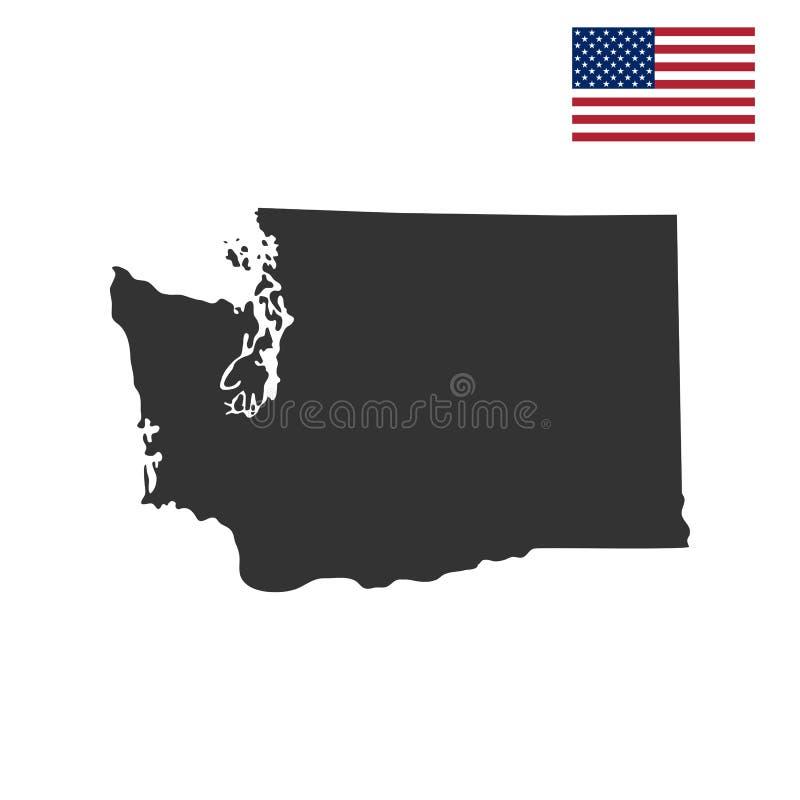 Mapa U S stan Waszyngton ilustracji