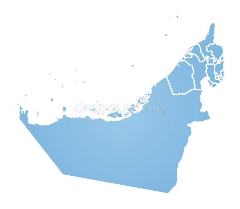 Mapa UAE ilustracji