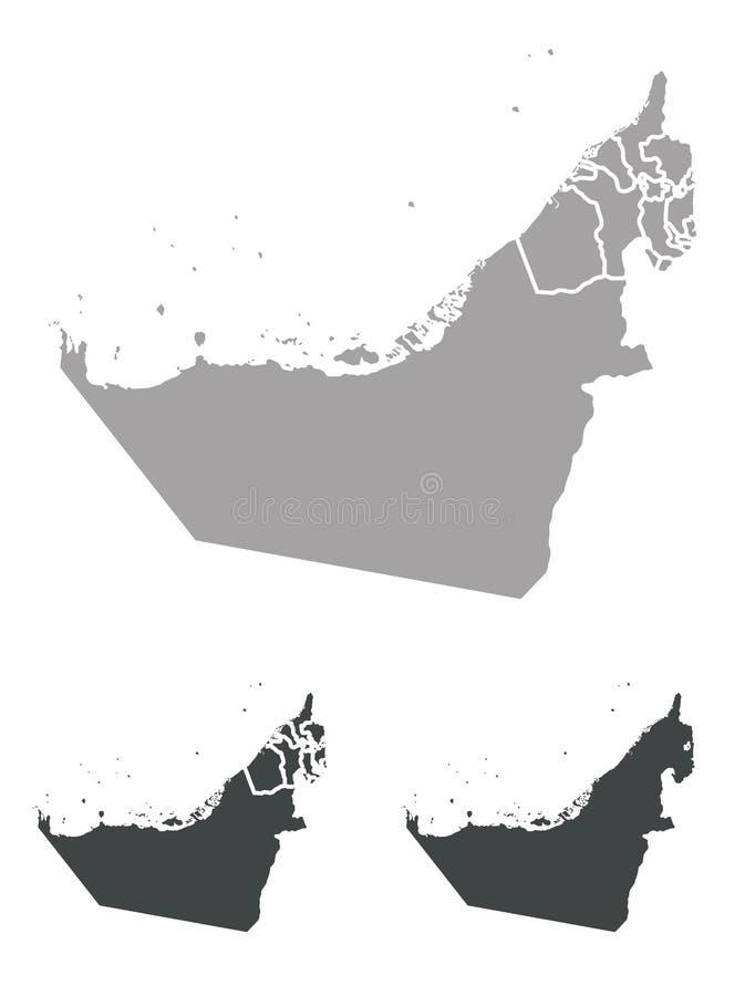 Mapa UAE royalty ilustracja