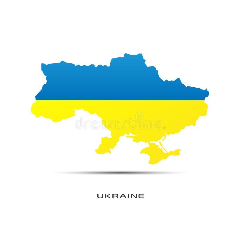 Mapa Ucrânia ilustração stock