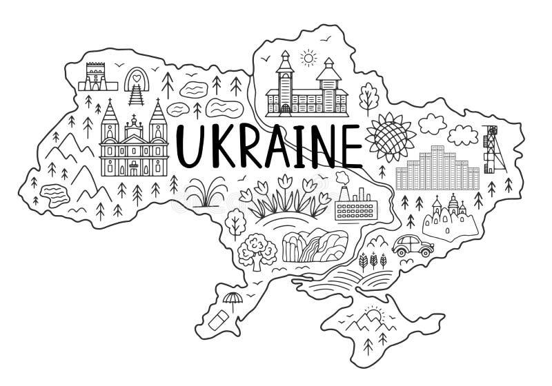 mapa Ukraine royalty ilustracja