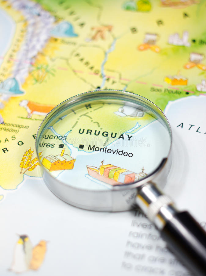 Mapa Urugwaj fotografia royalty free