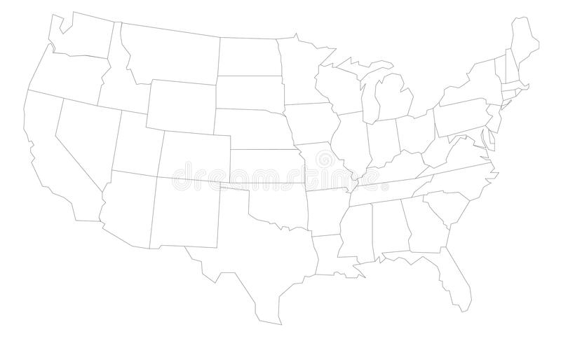 mapa usa fotografia royalty free